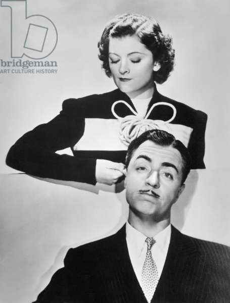 Myrna Loy and William Powell in 'Double Wedding', 1937 (b/w photo)