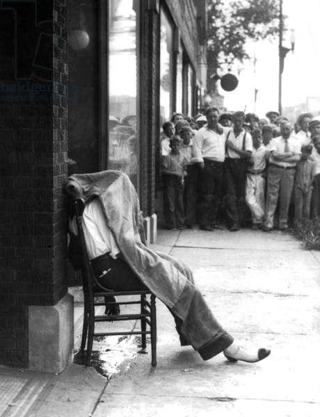 Tony Moreno, victim of the underworld war in Chicago (b/w photo)