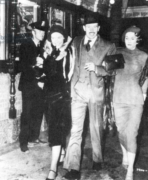 Movie still: the death of John Dillinger, 1934 (b/w photo)