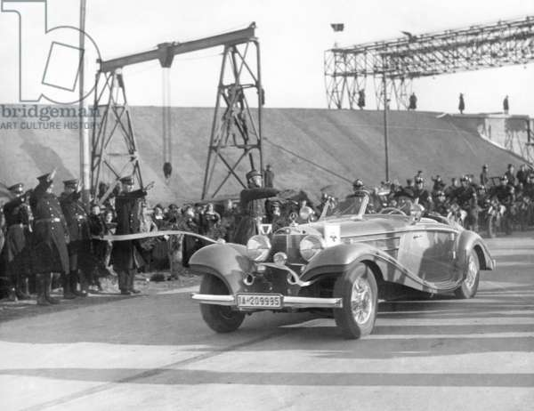 Hermann Goering opens the Reichsautobahn Berlin-Stettin, 1936