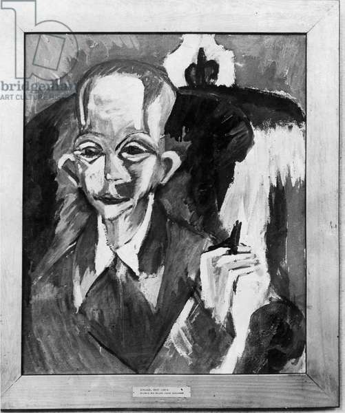 Portrait of the painter Schlemmer, from the Folkwang Museum in the exhibition 'Degenerate Art' in 1937 (oil on canvas)