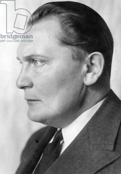 Profile portrait of Hermann Göring, 1937 (b/w photo)