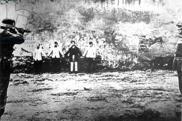 German Soldiers Shoot Russian Jews (b/w photo)
