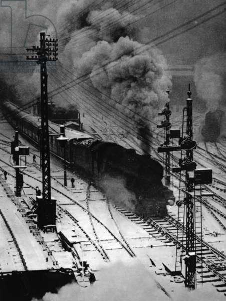 Railway tracks, c.1920s (b/w photo)