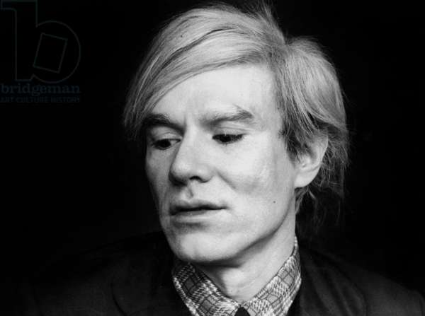 Andy Warhol, 1973 (b/w photo)
