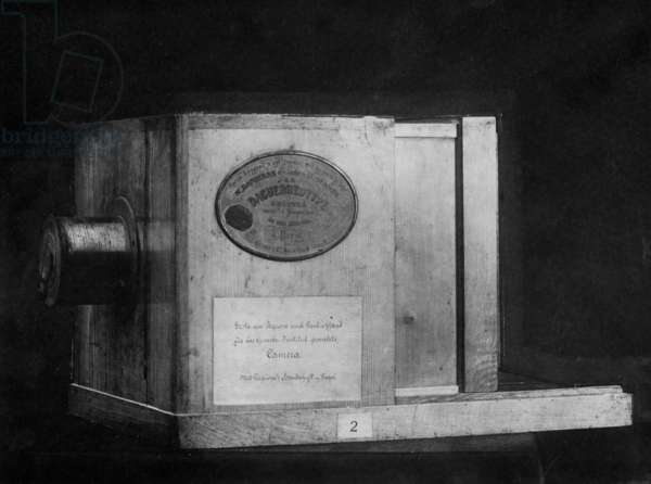 The camera of Louis Jacques Mande Daguerre (b/w photo)