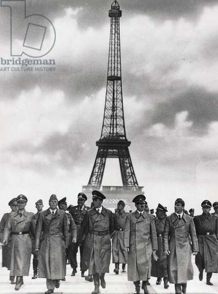 Adolf Hitler and leading Nazis in Paris, following the end of the French campaign, June 1940 (b/w photo)