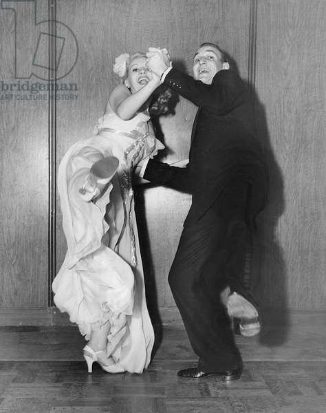 Dancing couple at the 'College Swing', 1937 (b/w photo)