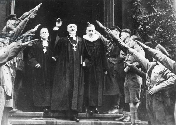 Bishop Coch of the German Christians in Dresden, 1934 (b/w photo)