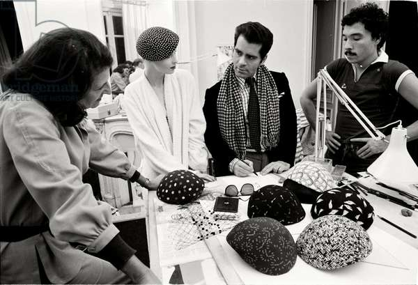 Karl Lagerfeld at Maison Chloe, 1972