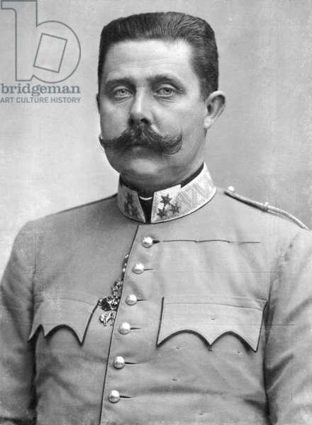 Archduke Franz Ferdinand, 1907 (b/w photo)