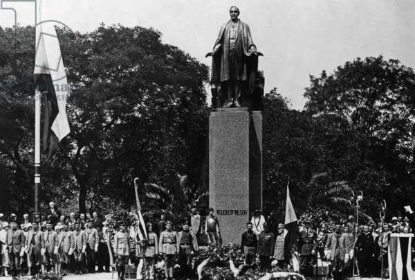Inauguration of the Wilson Statue in Prague, 1929