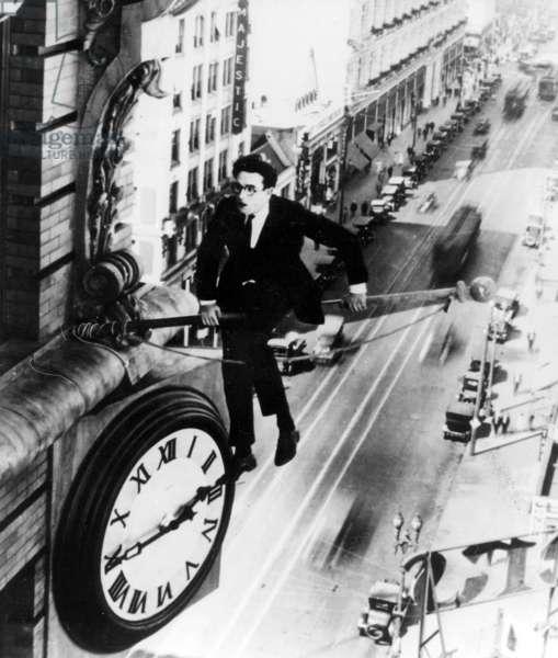 """Harold Lloyd in """"Safety Last!"""" (b/w photo)"""