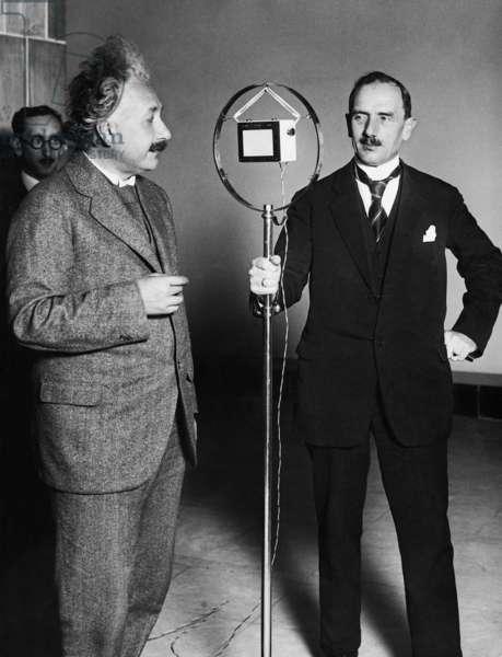 Albert Einstein, 1929 (b/w photo)