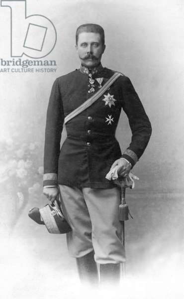 Archduke Franz Ferdinand, 1910 (b/w photo)