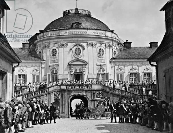 Royal Palace in Ludwigsburg, 1940 (b/w photo)