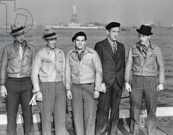 Released American fighters of the Spanish Civil War in New York, 1940