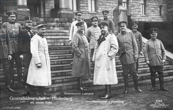 Paul von Hindenburg and Erich Ludendorff (b/w photo)