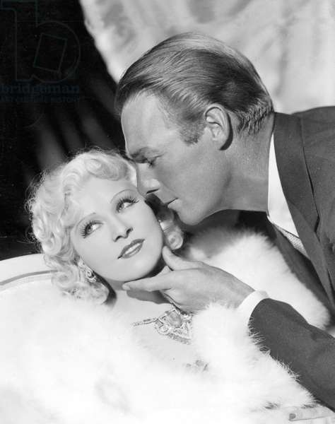 """Mae West and Randolph Scott in """"Go West, Young Man"""", 1935 (b/w photo)"""