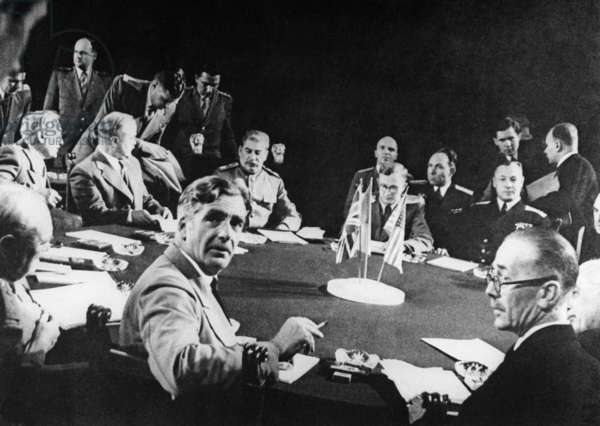 The Yalta Conference, 1945 (b/w photo)