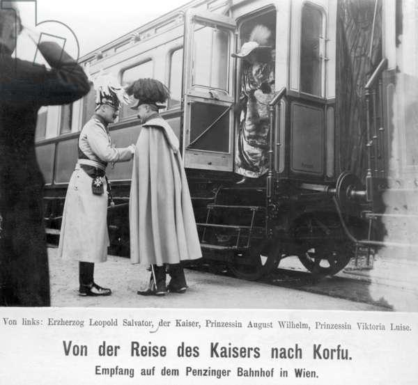 Emperor William II. Reception in Vienna, 1912