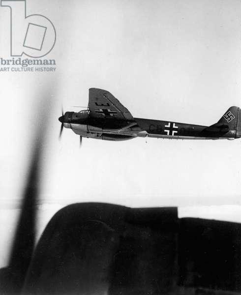 German bomber (b/w photo)