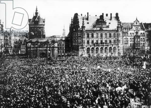 Rally in Danzig against the separation of Deuschland, 1919