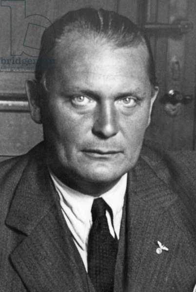 Portrait of Hermann Göring, 1932 (b/w photo)