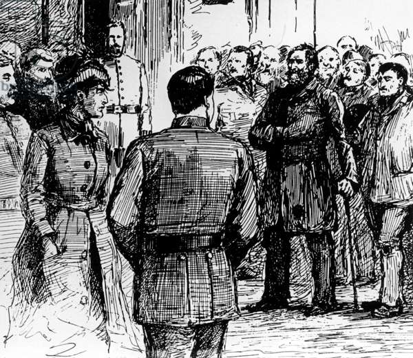 The criminal case of Jack the Ripper (b/w photo)