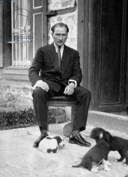 Mustafa Kemal Ataturk, 1927 (b/w photo)