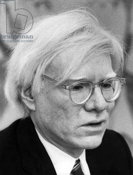 Andy Warhol, 1980 (b/w photo)