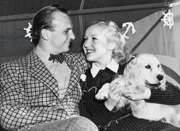Jacky Coogan and Betty Grable, 1937 (b/w photo)