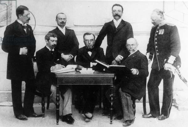 International Olympic Committee, 1896 (b/w photo)