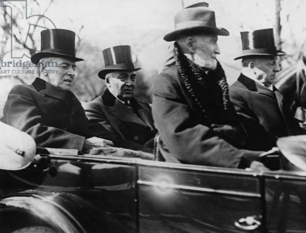 Woodrow Wilson, Warren G. Harding, Joe Cannon and Philander C. Knox, 1921 (b/w photo)