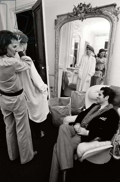 Karl Lagerfeld at the Maison Chloe, 1972