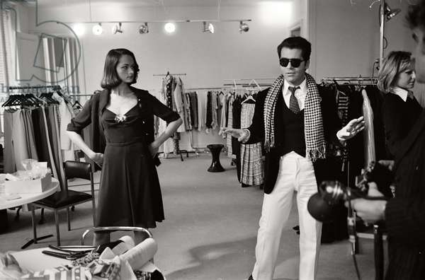 Karl Lagerfeld at the Maison Chloe in Paris, 1972
