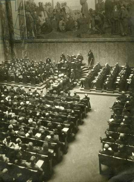 Scheidemann speaks against the Versailles Treaty, 1919
