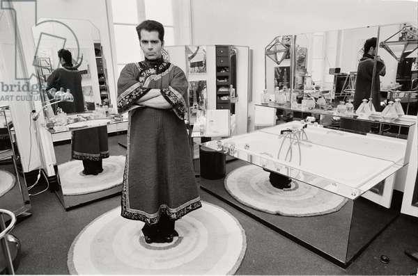 Karl Lagerfeld wears costume, 1972