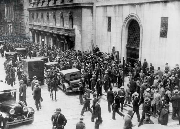Black Friday in New York, 1929 (b/w photo)