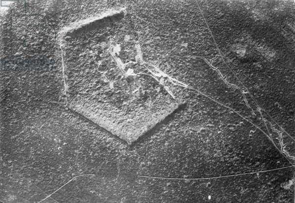 Fort Douaumont near Verdun, 1918 (b/w photo)