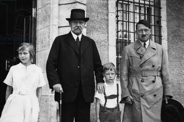 Paul von Hindenburg and Adolf Hitler, 1933 (b/w photo)