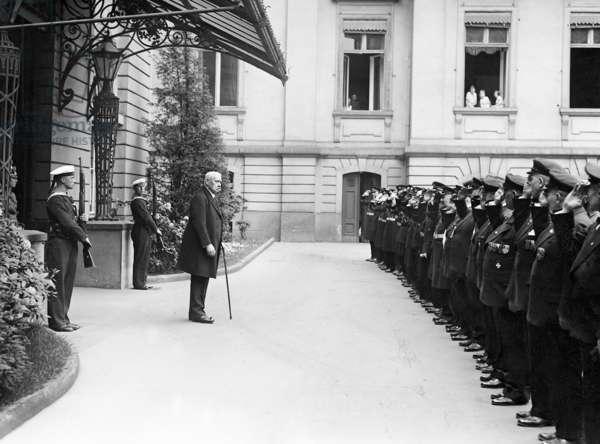 Paul von Hindenburg, 1933 (b/w photo)