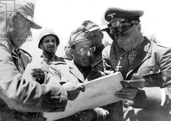 Rommel in Africa (b/w photo)