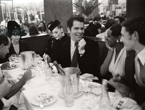 Karl Lagerfeld celebrates in Paris, 1972