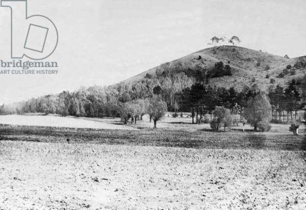 Stoellner mountains, 1916 (b/w photo)
