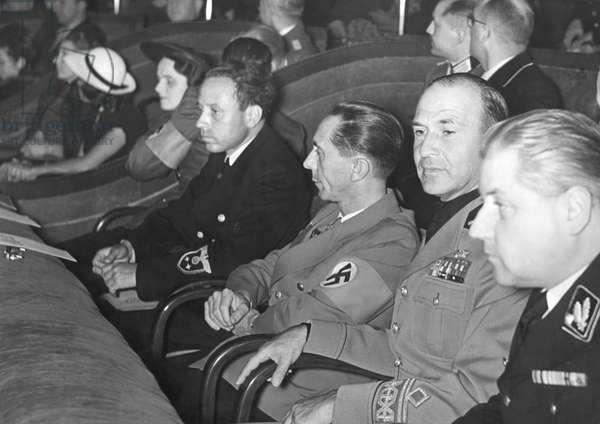 Joseph Goebbels at a film premiere, 1941