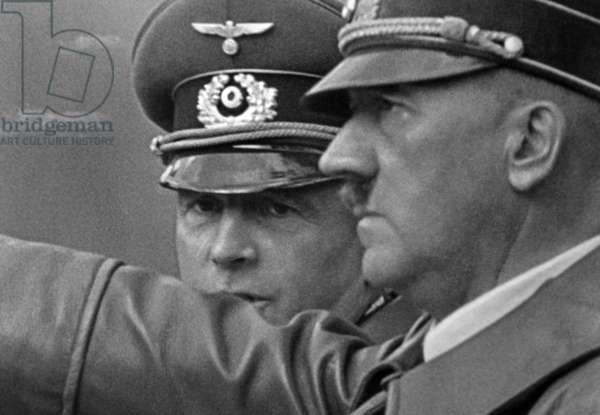 Adolf Hitler and Generalfeldmarschall Walter von Brauchitsch in Poland, 1939 (b/w photo)