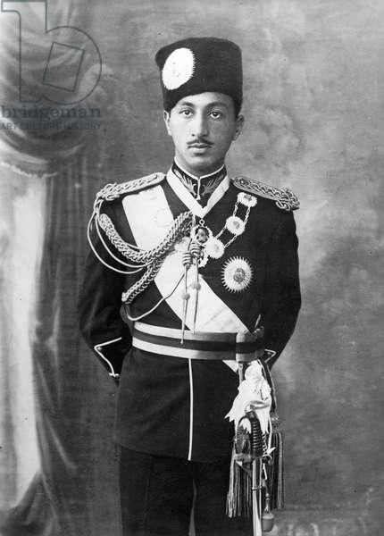 King Mohammed Zahir Shah, Kabul, Afghanistan, 1934 (b/w photo)