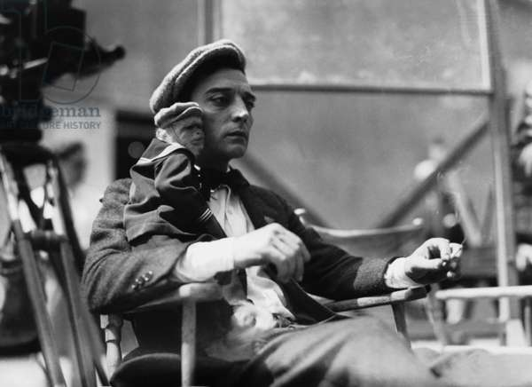 Buster Keaton, 1928 (b/w photo)