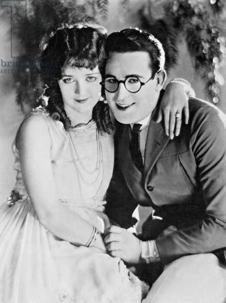 Harold Lloyd with Mildred Davis, 1925 (b/w photo)